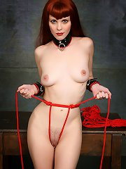 Cute Redhaired Slave Tied Up  on a table gets og..