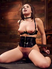 Abella Danger begs for the whip, gag and nipple ..